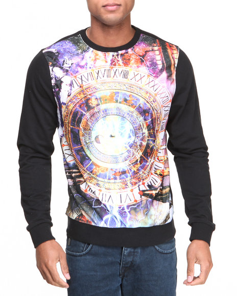 Enyce - Men Black Time Crew Neck Sweater