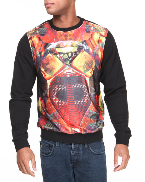 Enyce - Men Black Temption Crew Neck Sweatshirt