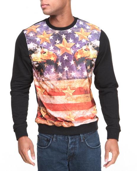 Enyce Black Patriot Crew Neck Sweatshirt
