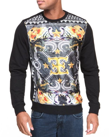 Graphic Crew Neck Sweaters