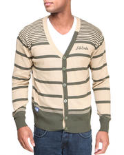 Akademiks - Finn Stripe Cardigan Sweater