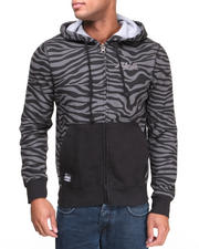 Hoodies - Apax All Over Zebra Print Fleece hoodie