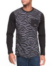 T-Shirts - Sable All Over Print Pocket L/S Shirt
