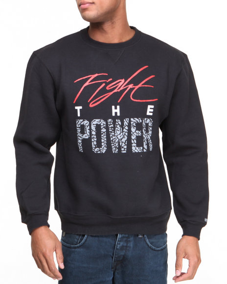 Buyers Picks - Men Black Fight The Power Sweatshirt - $22.99