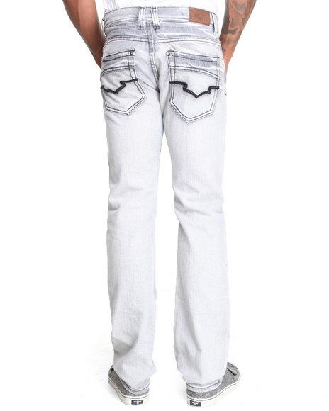 Basic Essentials - Men Grey Zinc Washed Bleach Denim Jeans