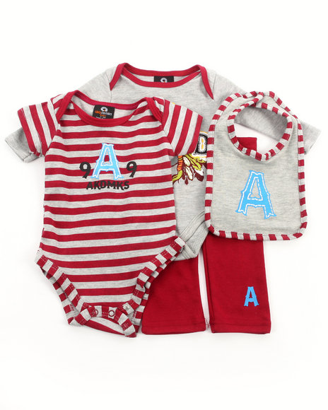 Akademiks - Boys Red 4 Pc Take Me Home Set (Newborn)