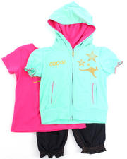 Girls - 3 PC SET - HOODY, TEE, & PANTS (2T-4T)