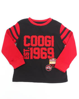 COOGI - L/S THERMAL VARSITY TOP (4-7)