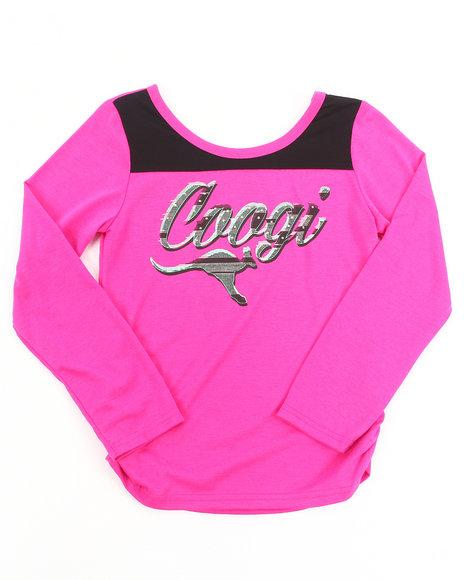COOGI - Girls Pink L/S Coogi Tee (7-16)