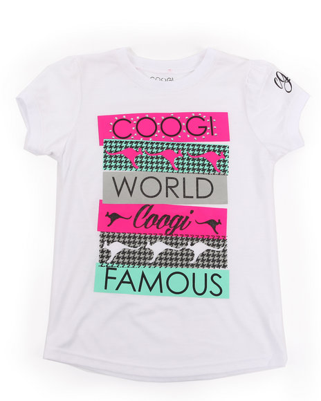 COOGI - Girls White Coogi World Tee (7-16)