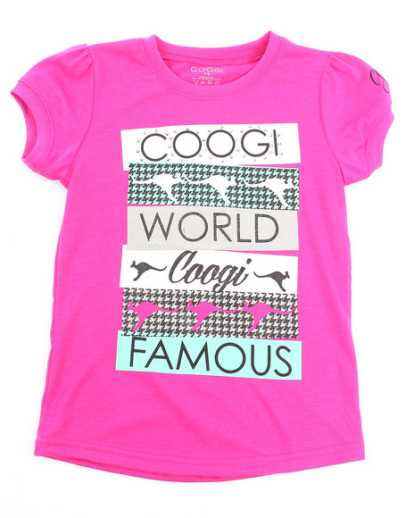 COOGI Girls Pink Coogi World Tee (7-16)