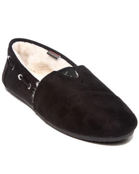 Apple Bottoms - Chesmuy Microsuede Faux Fur Lined Casual Sneaker
