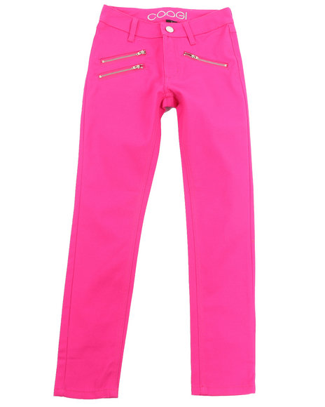 COOGI - Girls Pink Color Twill Jeans (7-16)