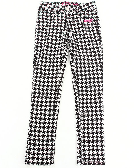 COOGI - Girls Black Houndstooth Pants (7-16)