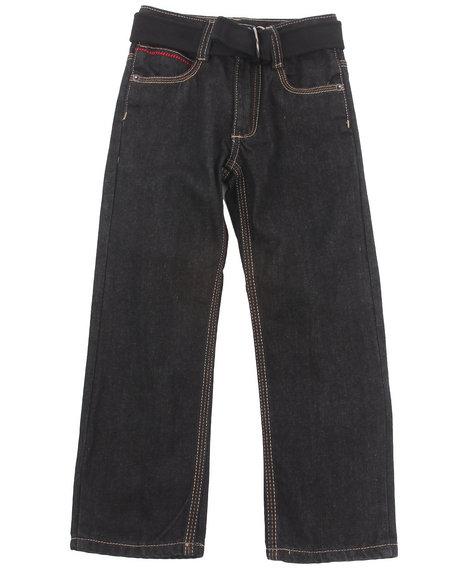 COOGI Boys Black Belted 5 Pocket Jeans (4-7)
