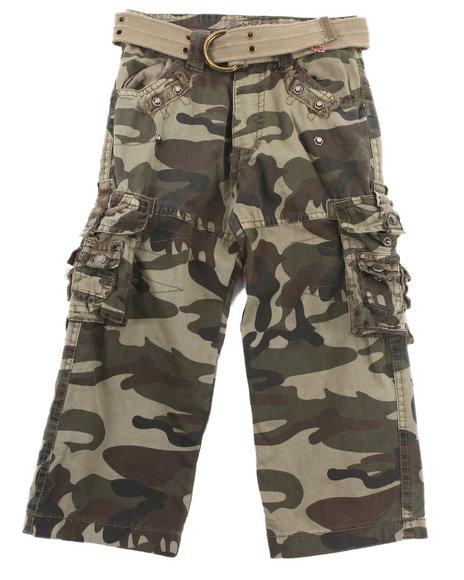 Arcade Styles Boys Camo,Olive Jetlag Cargo Pants (2T-4T)