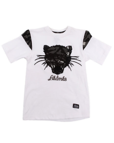 Akademiks - Boys White Leopard Tee (8-20)
