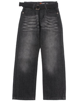 Akademiks - BELTED ROLODEX JEANS (8-20)