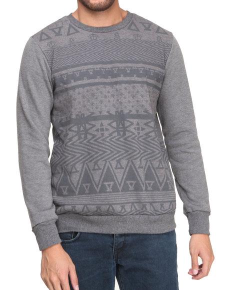 Asphalt Yacht Club - Men Grey Arcane Crew Fleece Sweatshirt - $38.99