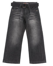 Sizes 4-7x - Kids - BELTED ROLODEX JEANS (4-7)
