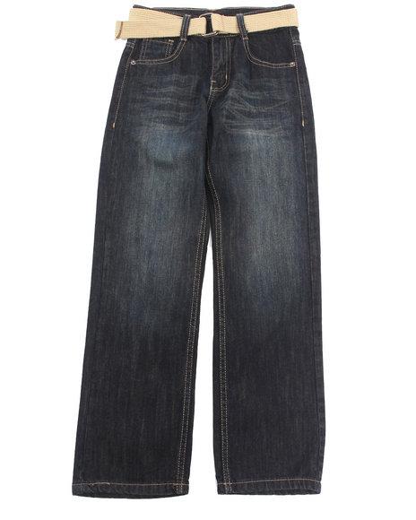 Akademiks - Boys Vintage Wash Belted Rolodex Jeans (8-20)