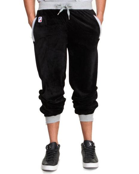 Post Game Black Brooklyn Velour Sweatpants