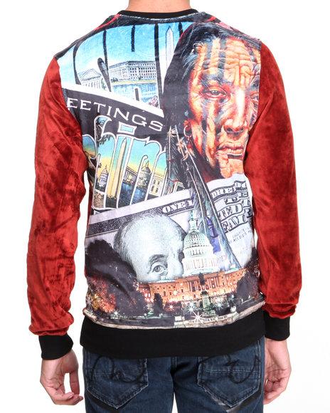 Post Game Maroon Skins Velour Sweatshirt