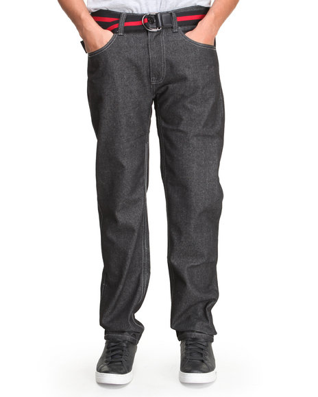Enyce - Men Red High Road Belted Denim Jean