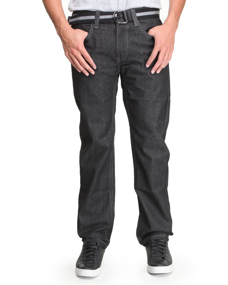 Enyce - Men Black High Road Belted Denim Jean