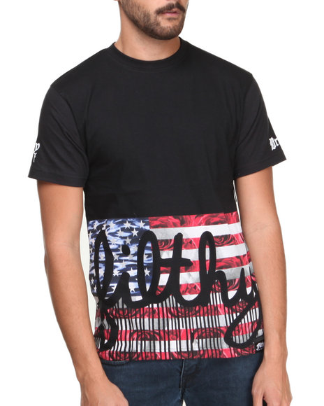 Filthy Dripped - Men Black Filthy Flag T-Shirt - $18.99