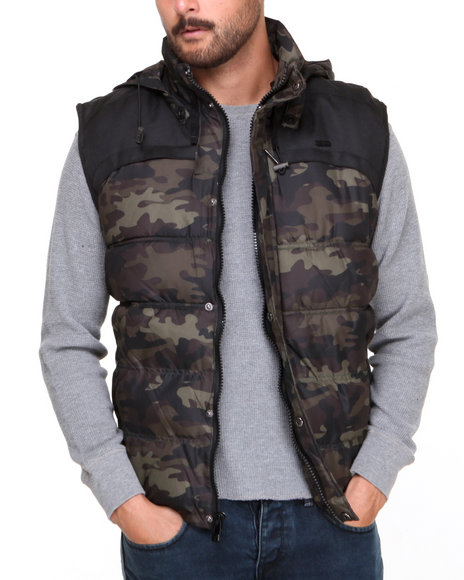 Rocawear Camo Puffer Vest