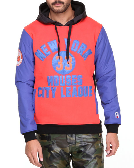 Post Game - Men Orange N Y Housing League Rip - Stop Hoodie