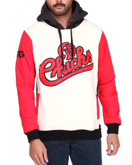 Post Game - Men Cream Chicks Rip - Stop Sleeve Hoodie