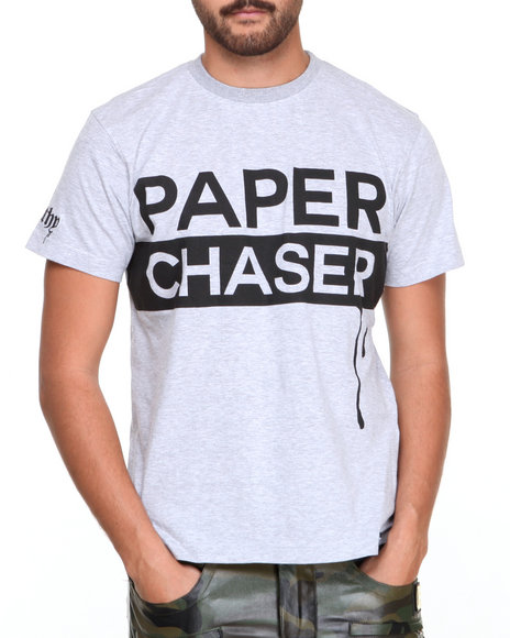 Filthy Dripped - Men Grey Paper Chaser T-Shirt
