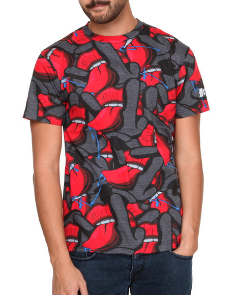 Filthy Dripped Red All Over Rocker T-Shirt
