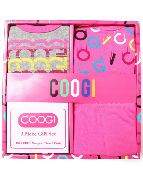 Coogi Girls 3 Pc Box Set Pink 0-6 Mo