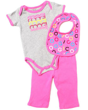 COOGI - 3 PC BOX SET - BIB, BODYSUIT, & PANTS (NEWBORN)