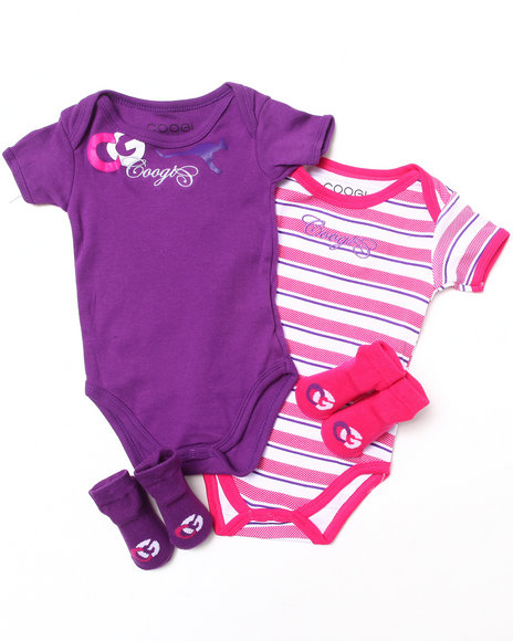 Coogi Girls 4 Pc Box Set Purple 0-6 Mo