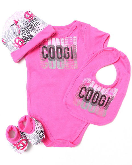 Coogi Girls 4 Pc Box Set Pink 0-6 Mo
