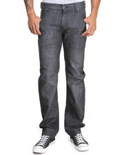 Men - Charcoal Tint Mercerized Premium Denim Jeans