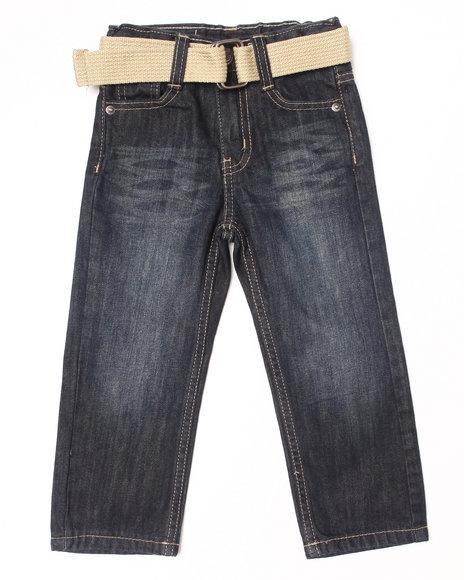 Akademiks - Boys Vintage Wash Belted Rolodex Jeans (2T-4T)