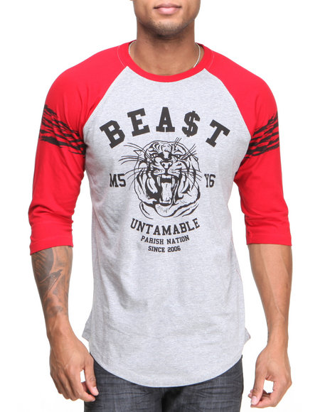 Parish - Men Grey Gustave Raglan