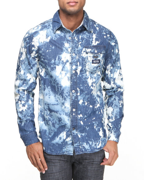 Parish Blue Alkali L/S Button-Down