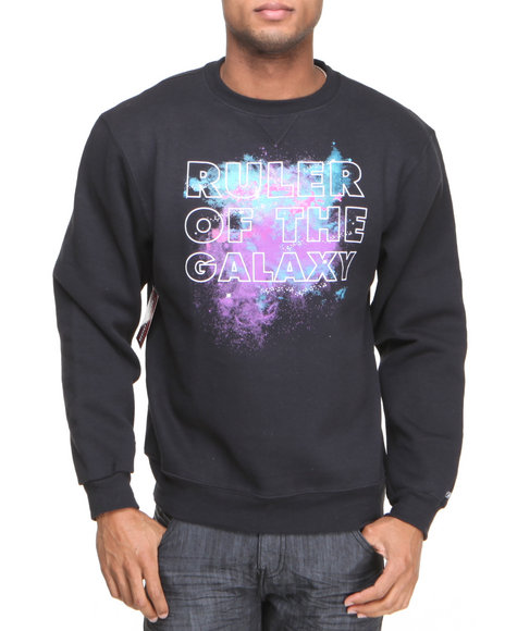 Buyers Picks - Men Black Ruler Of The Galaxy Sweatshirt