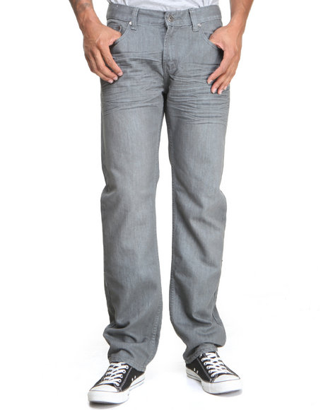 Basic Essentials - Men Grey Tint Mercerized Premium Denim Jeans