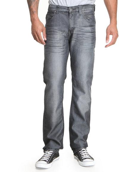 Basic Essentials - Men Black Sheen Flapback Denim Jeans - $13.99