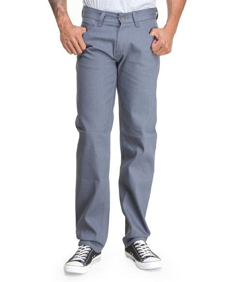 Basic Essentials - Men Grey Colored Raw Denim Jeans