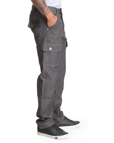 Blac Label Grey Blp Cargo Pocket Denim Jeans