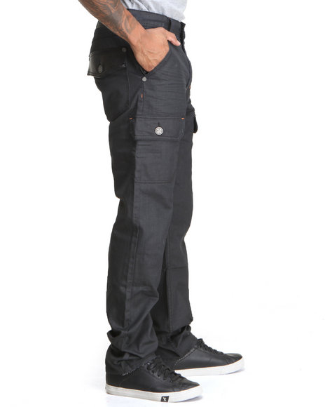 Blac Label - Men Black B L P Coated Cargo - Pocket Denim Jeans