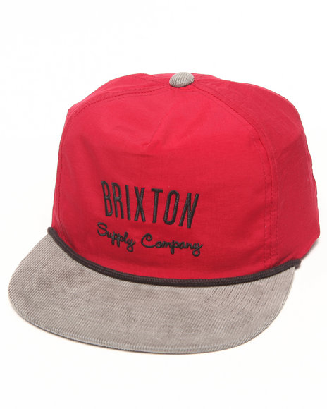 Brixton Men Carbon Snapback Cap Grey
